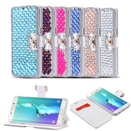 $enCountryForm.capitalKeyWord Canada - For iPhone XS XR MAX X 8 7 Diamond Rhinestone Case For Samsung Note 9 8 S9 S8 Plus S7 edge Bling Flip Leather Case Wallet Stand Cover