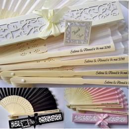 Ingrosso 100 pezzi Bomboniere personalizzate e regali per gli ospiti Ventaglio di seta