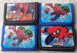 spiderman coins NZ - HOT Sale 36 Pcs Spiderman Coin Purses Mini Wallets Mix Lots Spiderman Cartoon Character Children Kid Gift Fashion Wholesale