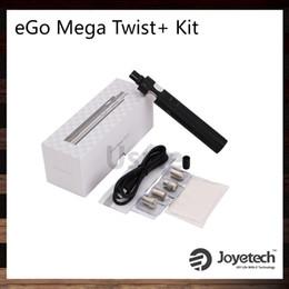 Original egO twist batteries online shopping - Joyetech eGo Mega Twist Kit mah ml Cubis Pro Atomizer mah eGo Mega Twist Battery VW and BYPASS Modes Original