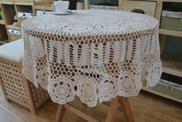 $enCountryForm.capitalKeyWord NZ - Totally handmade round tablecloth, hand crochet table cover, vintage style table cloth, Chic crochet pattern table linens decor af015