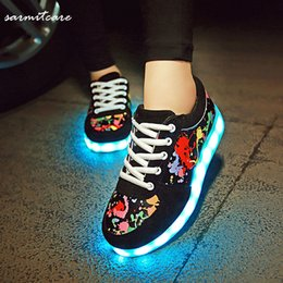 cheap real clearance lowest price 0264 - 2016 LED Light USB Recharging Shoes Gold Silver Shoes Colorful Fluorescent Light Lighting Shoes for Women Men Kids o8ijcKr4aS