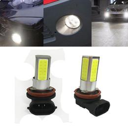 2 adet H8 H11 12 V 10 W LED Araba Ampul Beyaz 6000 K LED Ampul Yüksek Güç Sis Farları Sürüş Lambaları Evrensel LED Lamba Tak ve oyna