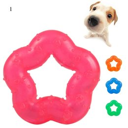 high quality dog chews toy fivepointed puppy rubber ring toy safe nontoxic puppy toys durable pet supplies random color 100pcs