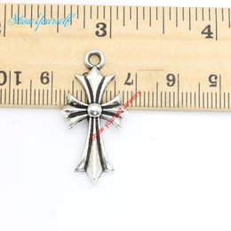 Crosses for Crafts online shopping - 15pcs Antique Silver Plated Crosses Charms Pendants for Necklace Jewelry Making DIY Handmade Craft x16mm