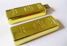 Real 256gb Flash Drive Australia - 5pcs epacket post 100% Real Capacity Gold bar 1GB 2GB 4GB 8GB 16GB 32GB 64GB 128GB 256GB USB Flash Drive Memory Stick with OPP Packaging 01