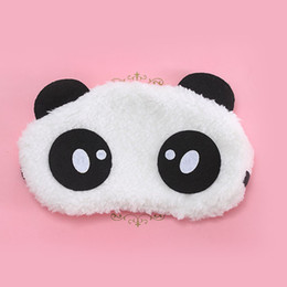 Großhandel Neue Ankunft atmungsaktiv und komfortabel Schlaf Blinder Blinkers Eyeshade niedlichen Cartoon Panda Velvet Nap Brille Augenmaske