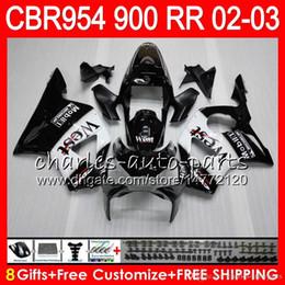 $enCountryForm.capitalKeyWord Australia - Body For HONDA CBR900RR CBR954 RR CBR954RR 02 03 CBR900 RR TOP 66NO2 Black west CBR 900RR CBR 954 RR CBR 954RR 2002 2003 Fairing kit 8Gifts