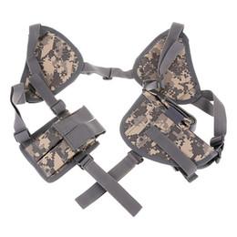 Gun holsters online shopping - Hidden Underarm Shoulder Holster Tactical Gun Case Anti theft Hidden Underarm Tactical Harness Nylon Shoulder Holster Armpit Bag for Gun