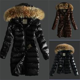 Womens Winter jacket short online shopping - France brand Women Long short Winter Down Jacket Womens Slim Female Coats Thicken fur Parka Down Coat Clothing Hooded Parkas