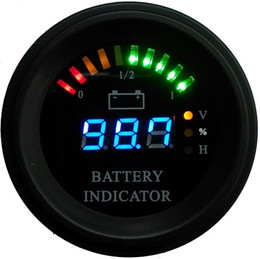 Wholesale Round housing Arc line LED Digital Battery gauge discharge Indicator hour meter state of charge forklift, EV, 24V 36V 48V 60V up to 200V