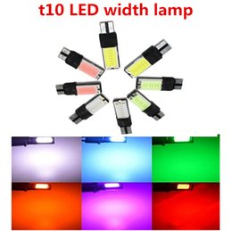 168 led blue bright 2018 - 10w COB Best Ridiculously Bright T10 194 168 W5W NO ERROR High Power LED Light Bulbs Auto Replacement Lighting cheap 168