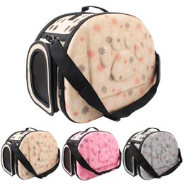 Cat Dog Carrier Bag Canada - oldable Soft EVA Pet Carrier Puppy Dog Cat Outdoor Travel Shoulder Bag for Small Dog Pets Portable Dog Kennel 3 Colors
