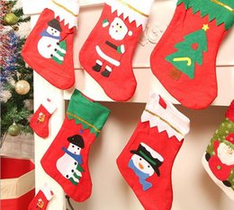 4b154ed29 New Arrive Mini Christmas Stockings Socks Santa Claus Candy Gift Bag Xmas  Tree Decor Festival Party Ornament