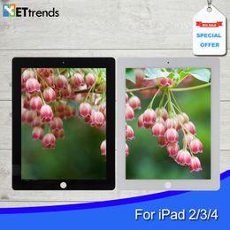 Опт Сборка планшета для iPad 2/3/4 Сенсорное стекло Сборка планшета с кнопкой Home 3M Adhensive Бесплатная доставка по DHL