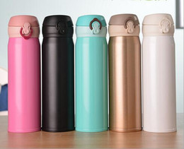 thermos thermal bottle 2018 - New Arrive Home Kitchen c Thermoses 420ml Stainless Steel Insulated Thermos Cup Coffee Mug Travel Drink Bottle cheap the
