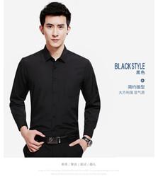 Vente en gros Manches longues à manches longues Chemise habillée Chemises d'affaires standard Taille: (38 # -44 #) Seulement 25 $