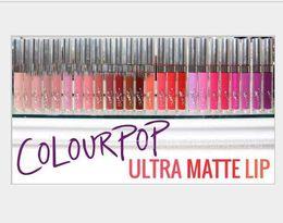 Dark Blue Lipstick Wholesale Canada - 120pcs lot Latest Arrival 28 color Available Colour Pop Ultra Matte velvety Liquid Lipstick Matte liquid Lipgloss Waterproof Lip Gloss