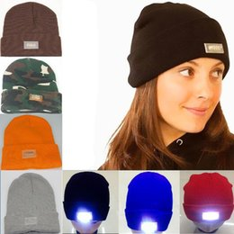 Flash grill online shopping - Multicolor Beanie LED Glowing Knitted Caps with Led Flash Light Novelty Led Hat for Hunting Camping Grilling Jogging Walking