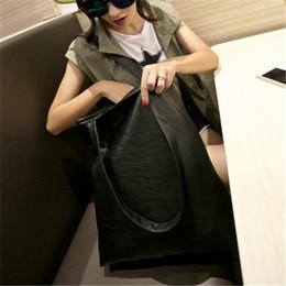 $enCountryForm.capitalKeyWord Australia - Handbag Simple Black New PU Fashion Shoulder Hand Female Bag Women Faux Leather Handbag Tote Purse Shoulder Bag Hobo Satchel Black
