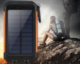 Comercio solar energía móvil faros duales 20000mAh cargador de miliamperios teléfono móvil carga rápida negro, azul, verde, naranja en venta