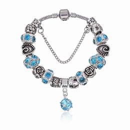 Dangling Chain NZ - Elegant Charm Bracelets with Brilliant Crystal Murano Glass Beads & Ruby Dangles Fashion Snake Chain Bangle Bracelets for Women BL168