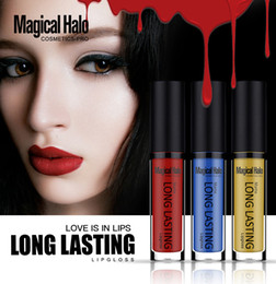 magical halo lipstick 2018 - Magical Halo Matte Long Lasting Lip Gloss Makeup Lipgloss Liquid Lipsticks 38 Colors Love is in Lips Cosmetic Pro DHL Fr
