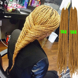 "black blonde ombre kanekalon braiding hair NZ - Blonde ombre 18"" Senegalese Twist hair Crochet Braids 6pcs = head hair extensions,kanekalon braiding hair free shipping for black women"