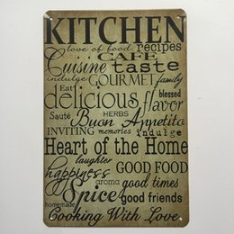 Kitchen Cafe Taste Retro Vintage Metal Tin Sign Poster For Man Cave Garage  Shabby Chic Wall Sticker Cafe Bar Home Decor
