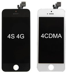 Lcd Replacement For Iphone 4s NZ - Wholesale-Front Assembly LCD Display Touch Screen Digitizer Replacement Part for iphone 4 4G 4S DHL Free SNP015