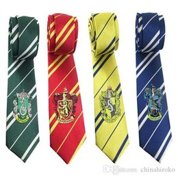 $enCountryForm.capitalKeyWord Canada - Harry Potter Necktie 4 colors 6.5*145cm College tie Gryffindor tie with badge Slytherin Ravenclaw Costume stripe ties Free DHL FedEx
