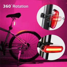 Ricarica USB Bicicletta Mountain Bike Cambio luce posteriore Lampada Sirius fanale posteriore Night Riding Cycling Light