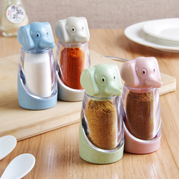 New Cooking Gadgets Australia - New Creative Cartoon Elephant BBQ Spice Pepper Box Seasoning Grinding Pot for Cooking Meat Grinder Tools Gadget