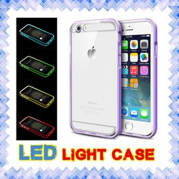 Wholesale LED Light Cases Hybrid incoming calls flash Up Case for iphone s SE s plus Samsung note S6 S7 edge