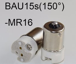 Discount gy6.35 led portable BAU15s to MR16 led lamp base converter light bulb holder to MR16,G4,G5.3,GY6.35,G8 led socket
