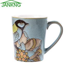 $enCountryForm.capitalKeyWord NZ - JK HOME 435mL Western Ceramic Coffee Mugs Cup Hand Painted Lovely Bird Coffee Mug Travel Mug Cup Tea Cup Elegance Milk Mug free shipping