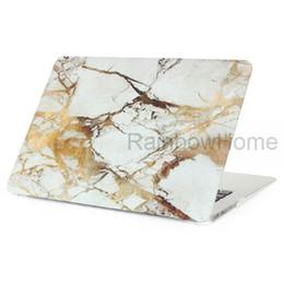 Мраморный гранитный дизайн Пластмассовый чехол для чехлов Защитная оболочка для Macbook Air Pro Retina 11 13 15-дюймовая пробная этикетка с водой