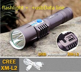 highest output flashlight NZ - LED CREE XM-L2 T6 Flashlight 2000 Lumen USB Charging Output Port Torch light 18650 Battery Lamp For Camping Working charge USB device