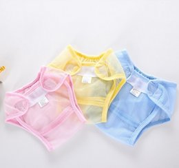 Wholesale Baby Cotton Diapers Cover Cloth Mesh cloth Breathable Reusable baby Diaper Covers pants kids Bread pants
