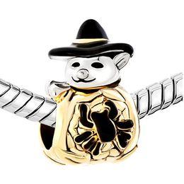Metal spider charMs online shopping - 2016 Halloween Cute Spider Pumpkin Snowman With Classic Black Gentleman Hat bead European Fits Pandora Charm Bracelet