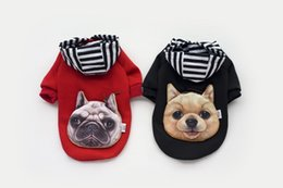 christmas clothing for female dog UK - Dog Coat Pitbull Boxer Head Pet Costume Clothing Cat Dog Puppy Hoodie Winter Clothes for Dogs Warn Sweater Pet Christmas Gift 2 Color 4Sizes