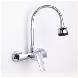 wall mount 2 hole brass kitchen hot and cold mixer tapfree shipping j14769