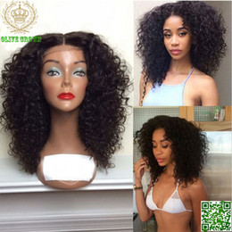 $enCountryForm.capitalKeyWord Australia - Malaysian Human Hair Wig High Density Kinky Curly Full Lace Wigs Afro Kinky Curly Glueless Lace Front Wig With Baby Hair