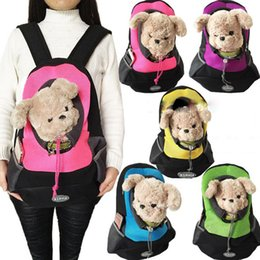 sling tote bags wholesale Canada - 2 style Pet Dogs Cats Cloth Slings Totes Shoulder Bags Backpacks Carriers Outdoor Portable Travel Backpacks Free shipping