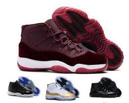 224c9bc4256c Cheap 11 Basketball Shoes Men Women Space Jam 11s XI 72 Bred Red Velvet  Heiress Femme Athletic Sports Sneake