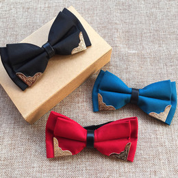 $enCountryForm.capitalKeyWord Canada - Manufacturer's stock supply, metal edge bow tie, pure ribbon metal corner, fashionable fashion necktie wholesale
