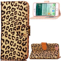 Iphone flIp leopard online shopping - For Iphone Plus I7 Iphone8 Luxury Leopard Flip Wallet Leather Pouch Case Photo Frame ID Card Stand Cell Phone Colorful Skin Cover