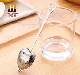 Wholesale Hot Spring quot Tea Time quot Convenience Heart Tea Infuser Heart Shaped Stainless Herbal Tea Infuser Spoon Filter D903