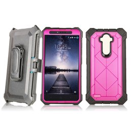 zte z981 2020 - Hybrid Armor case For ZTE ZMAX Pro Z981 Metropcs z982 Shockproof Robot Case Cover With Belt Clip Without Screen Film B
