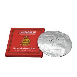 China 0.02mm Aluminum Foil For Al Fakher Hookah Shisha Papers Round Shape Bong Bowl 50pcs pack cheap aluminum bong suppliers